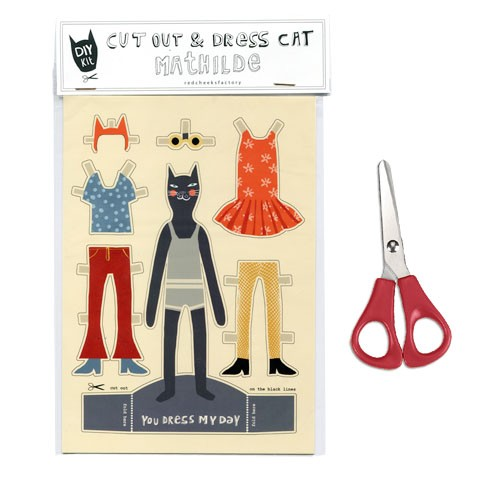 cut out and dress cat