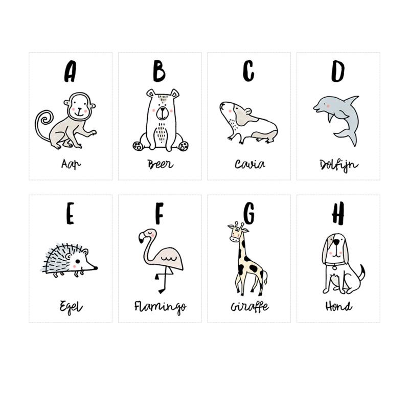 Miek in vorm ABC kaarten