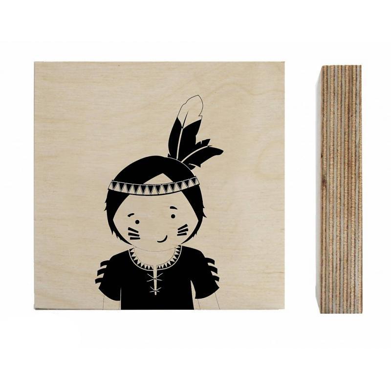 zoedt-houtprint-indiaan-jongen