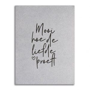 Zoedt-kaart-grijsboard-Mooi-hoe-de-liefde-proeft