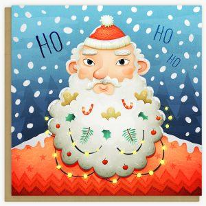 Lea-Vervoort-kerst-kaart-ho-ho-ho-kerstman