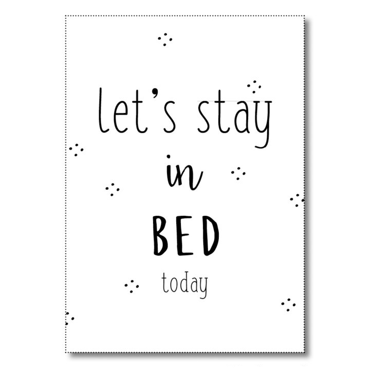miekinvorm-ansichtkaart-lets-stay-in-bed-today-voorkant
