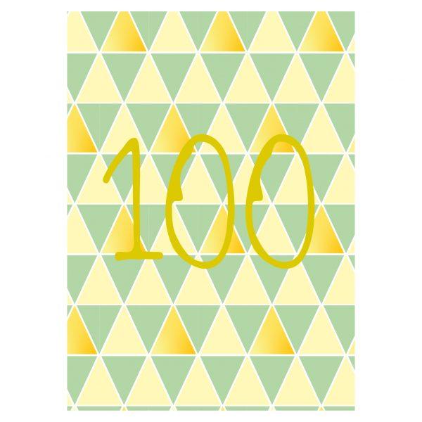 Getalkaart-100-verjaardagskaart-verjaardag