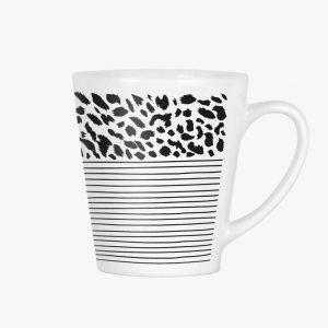 zoedt-latte-mok-met-strepen-en-panter-print