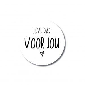 Miekinvorm-Sticker-Lieve-Pap