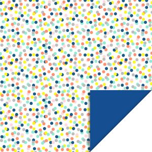 house-of-products-inpakpapier-dubbelzijdig-bollen-fel-confetti