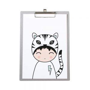 klembord-grijskarton-zoedt-a4-poster-tijger-jongen