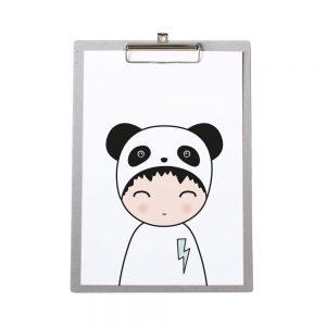 klembord-grijskarton-zoedt-a4-poster-panda-jongen