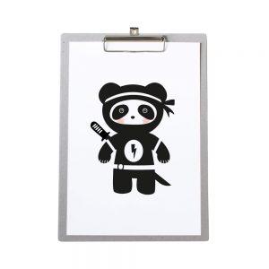 klembord-grijskarton-zoedt-a4-poster-ninja-panda