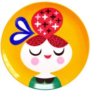petit-monkey-melamine-bord-meisje-geel