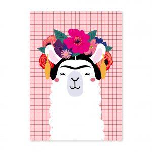 studio-inktvis-postkaart-frida-kahlo-lama