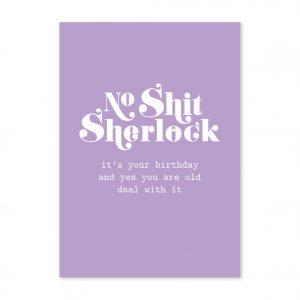 studio-inktvis-postkaart-no-shit-sherlock-birthday