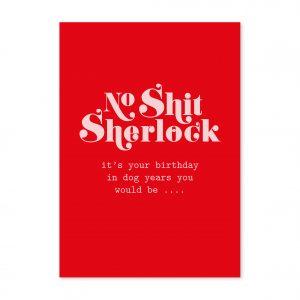 studio-inktvis-postkaart-no-shit-sherlock-birthday-dog-years