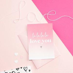 miekinvorm-kaart-la-la-la-love-you