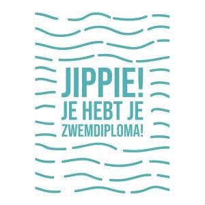 pup-store-quote-kaarten-serie-amber-van-der-pijl-jippie-je-hebt-je-zwemdiploma