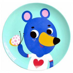 melamine-plate-blue-bear-mint-petit-monkey