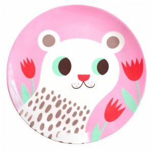 melamine-plate-polar-bear-pink-petit-monkey