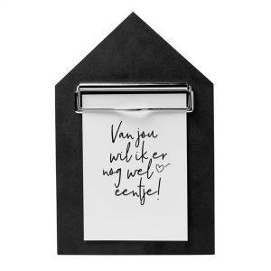houten-klembord-A5-huisje-zwart-zoedt