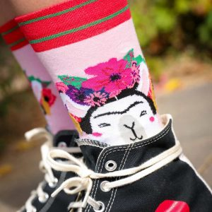 studio-inktvis-frida-kahlo-sokken-lama