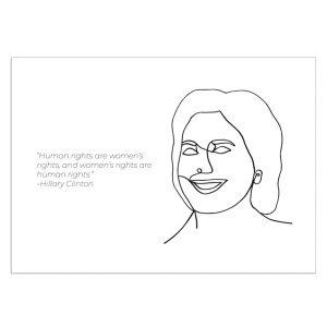 hillary-clinton-kaart-inspiring-women