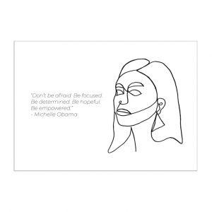 michelle-obama-kaart-inspiring-women