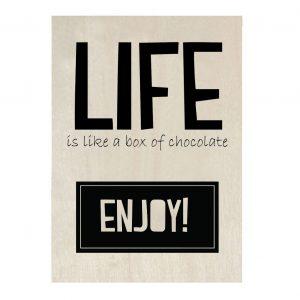 life-is-like-a-box-of-chocolate-houten-kaart-zoedt