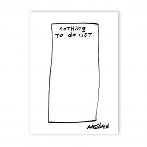 ansichtkaart-argibald-nothing-to-do-list