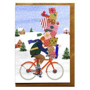 reddish-design-kerst-kaart-bycycle